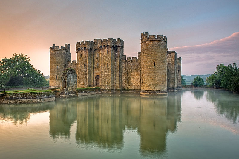 Decorative image of Bodiam Castle in East Sussex, England