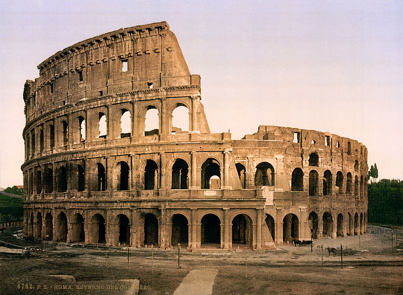 Decorative image of the Colosseum, Rome