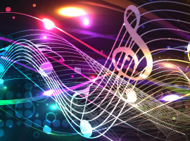 Vectors4all.com colorful music background