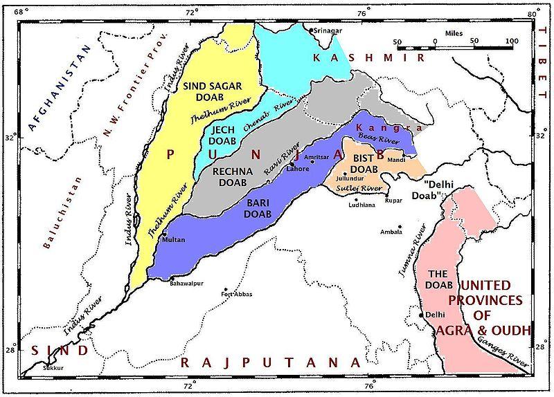 Map of Punjab 1947