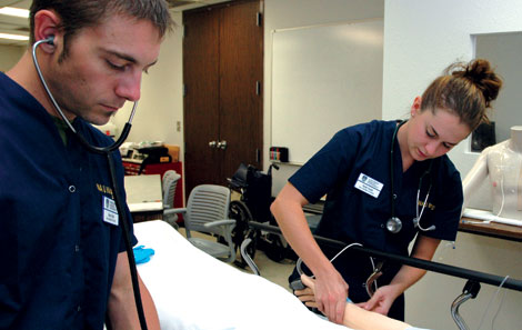 NAU Nursing students image