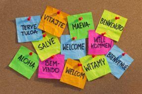welcome, willkommen, bienvenue, aloha,...[Image source: iStockphoto.com]