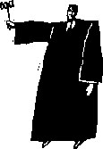 grainy graphic of a judge with a gavel in hand