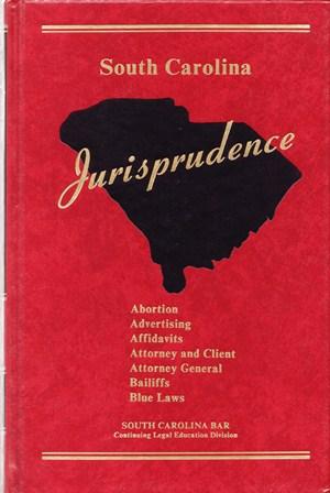 Cover of a volume of South Carolina Jurisprudence