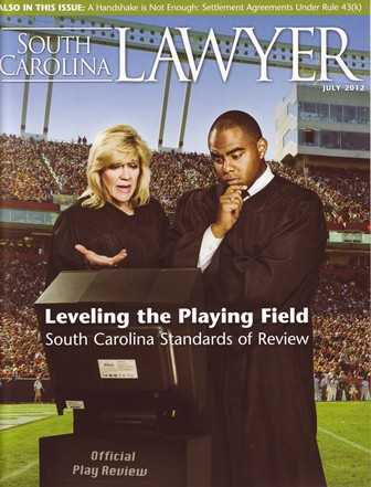 Cover of an issue of the South Carolina Lawyer magazine