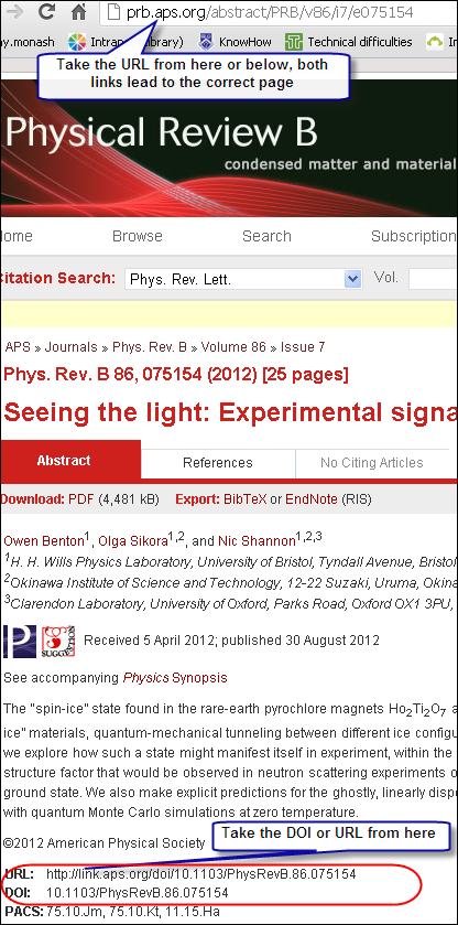 journal article from direct web page