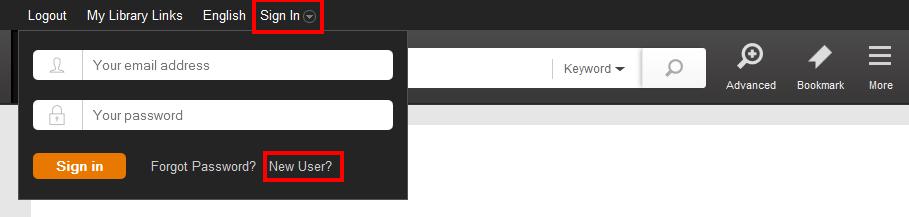 Academic OneFile New User Link