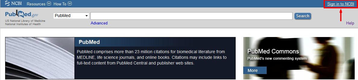 Pubmed my ncbi account sign-in