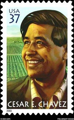 Image of Cesar Chavez postage stamp