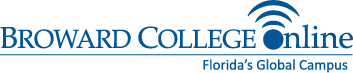 Logo for Broward College Online - Florida's Global Campus