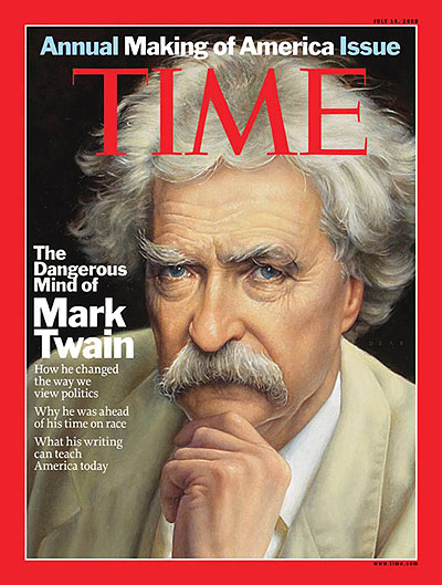 Time Magazine Cover With Mark Twain