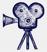 Illustration of Old Fashioned Film Camera