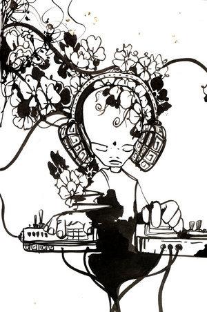 Illustration of DJ