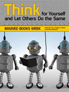 Image of Robots Reading Books and Text