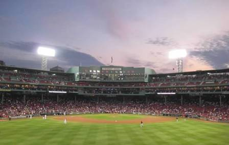 image of fenway park at night