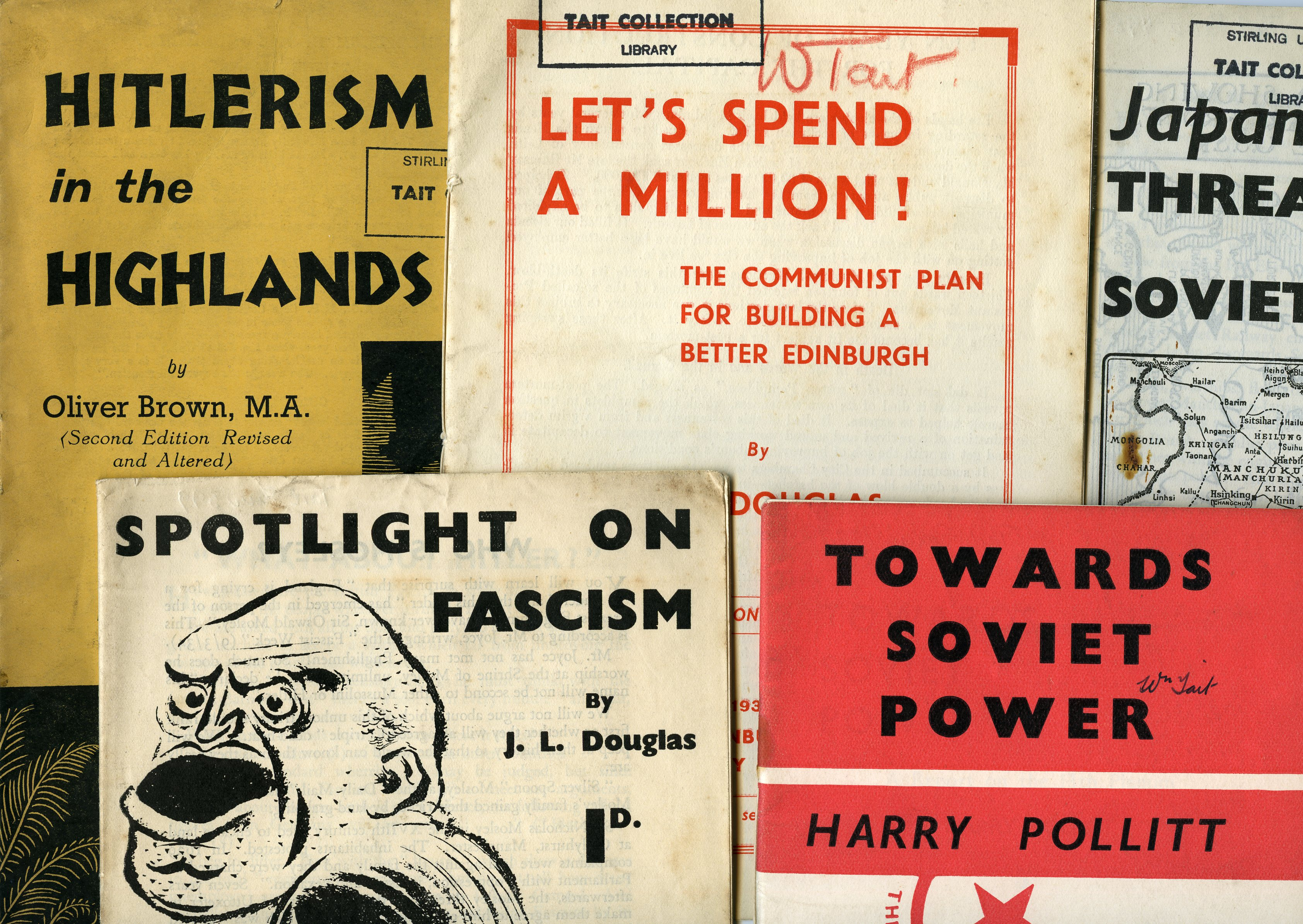 Political pamphlets from the Tait and Watson Collection