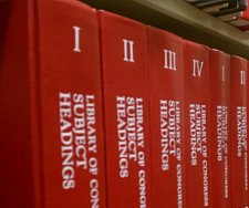 Library of Congress books of Subject Headings