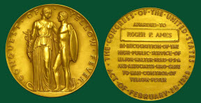 Conquest of Yellow Fever [ Walter Reed Medal] to Roger P. Ames