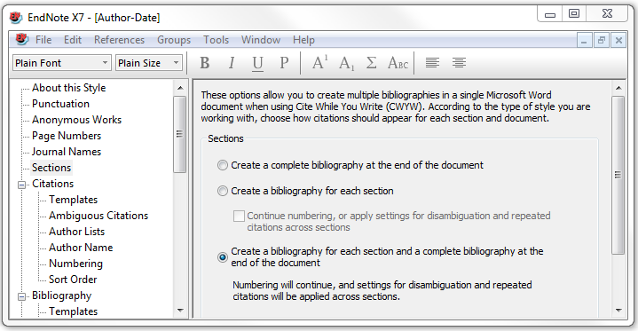 screenshot endnote editing style