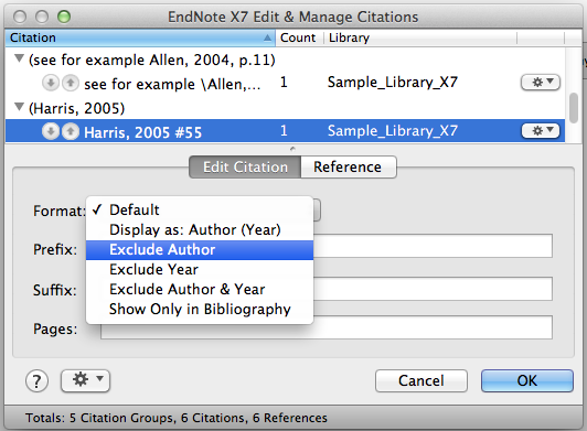 Exclude Author