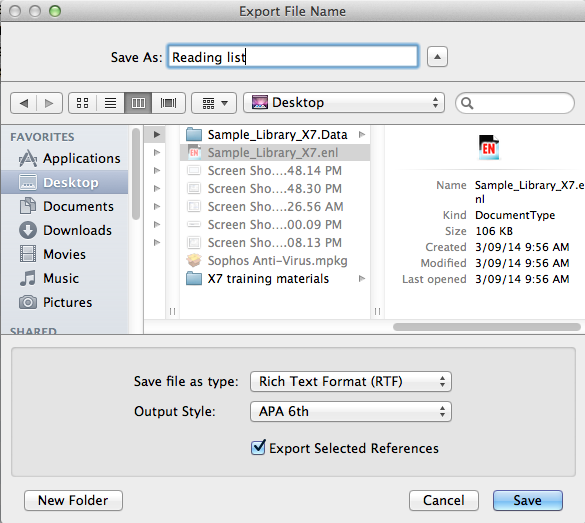 Export File Name