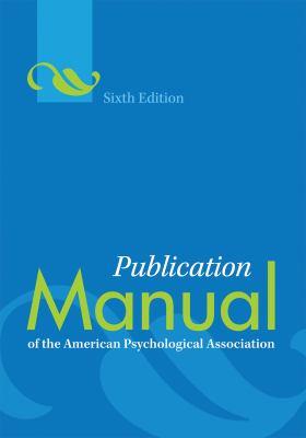 image of APA Style manual