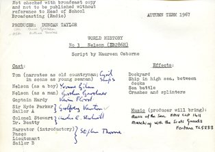 Script from the Duncan Taylor archive
