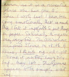 Photo of a page from one of the diaries of Isabel Fry