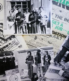 Photo of a montage of photographs and records from the Institute of Education Archives