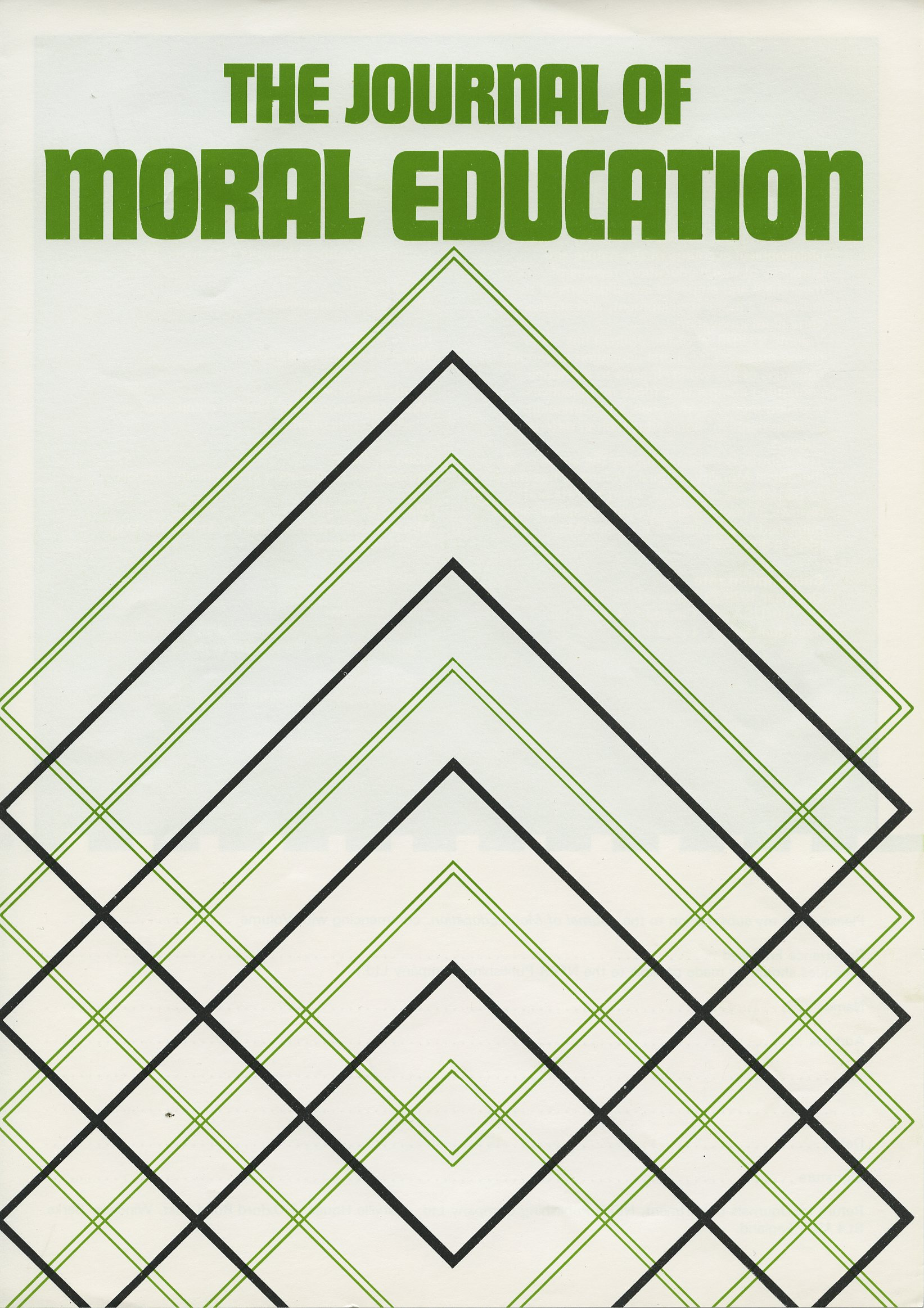 Front cover of the Journal of Moral Education