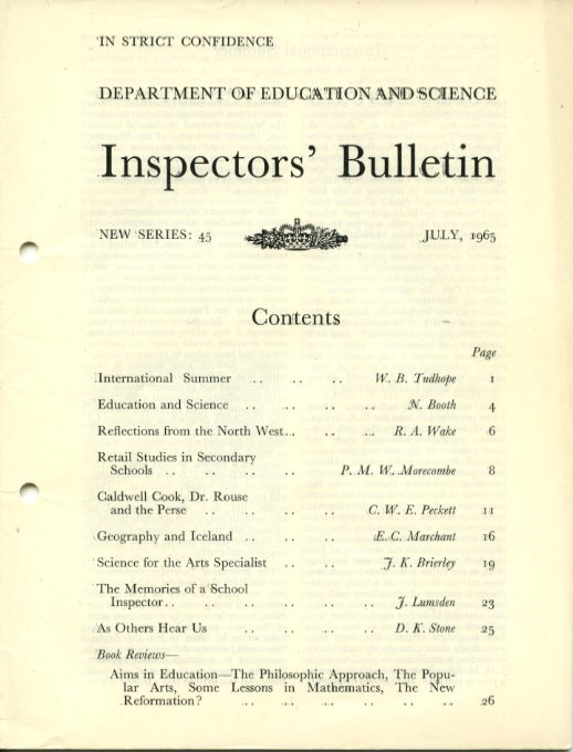 DES, Inspectors' Bulletin (from the KIT archive)