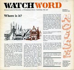Watchword magazine (ACE/11/7)