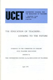 UCET report on Teacher Education