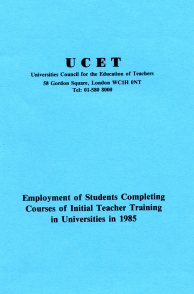 UCET's survey of teachers