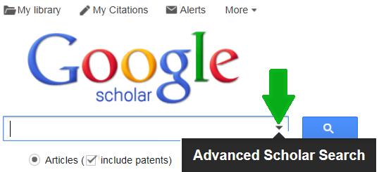 Google Scholar search interface screenshot