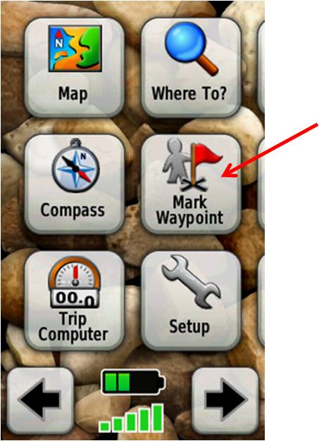 Mark Waypoint screen shot