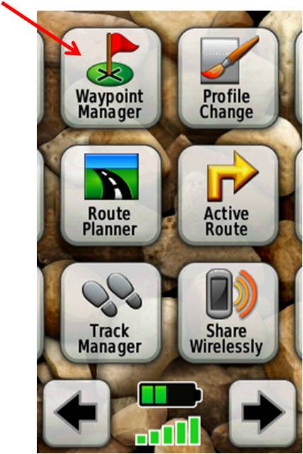 Waypoint Manger screen shot