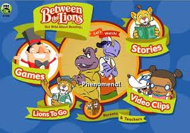 screenshot of the website for Between the Lions