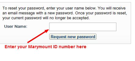 Password Request Form