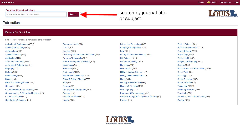Publication Finder Interface
