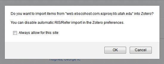 Import into Zotero