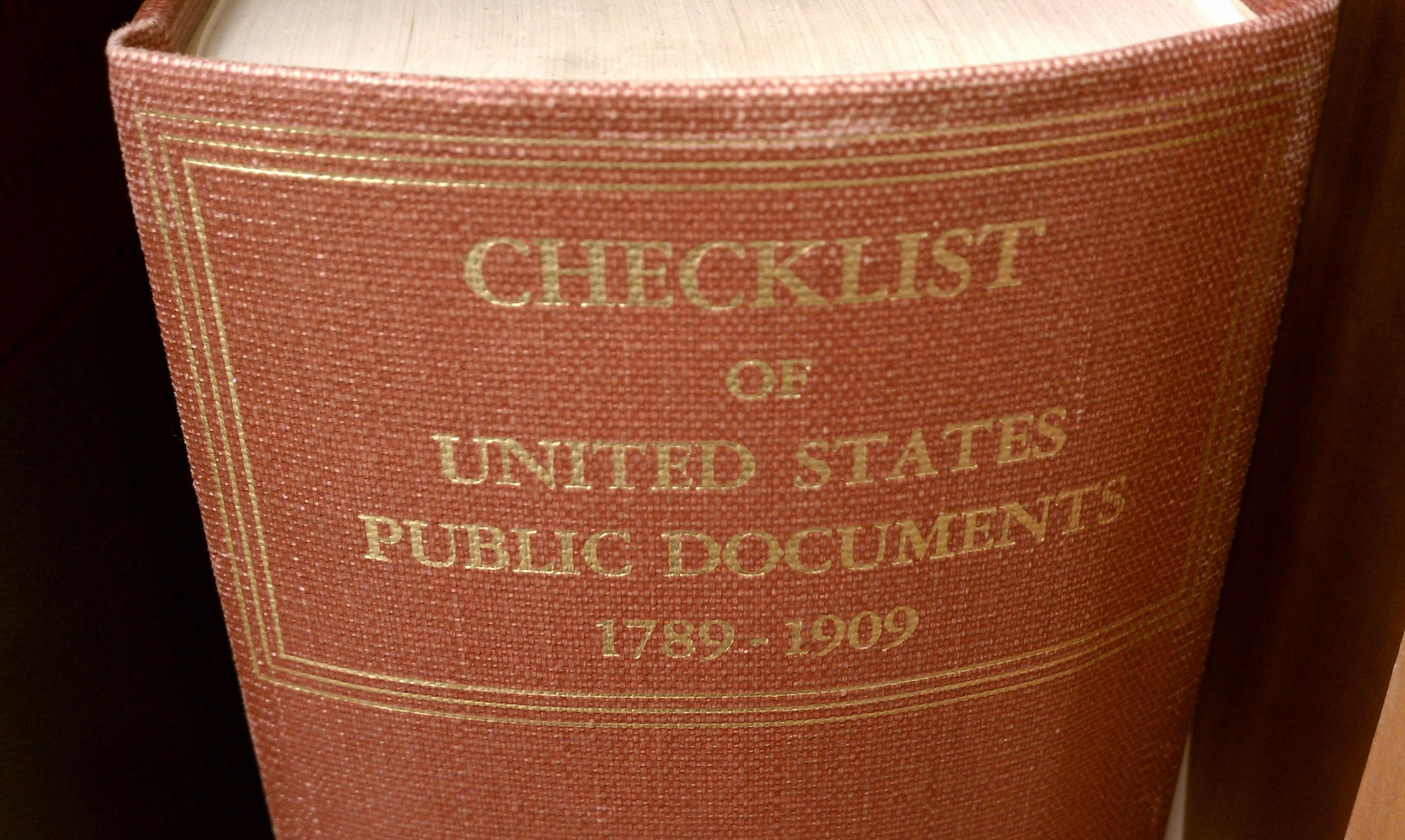 1909 Checklist