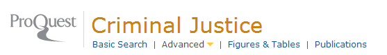 logo for criminal justice database