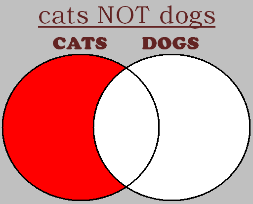 cats NOT dogs