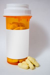 prescription bottle and pills