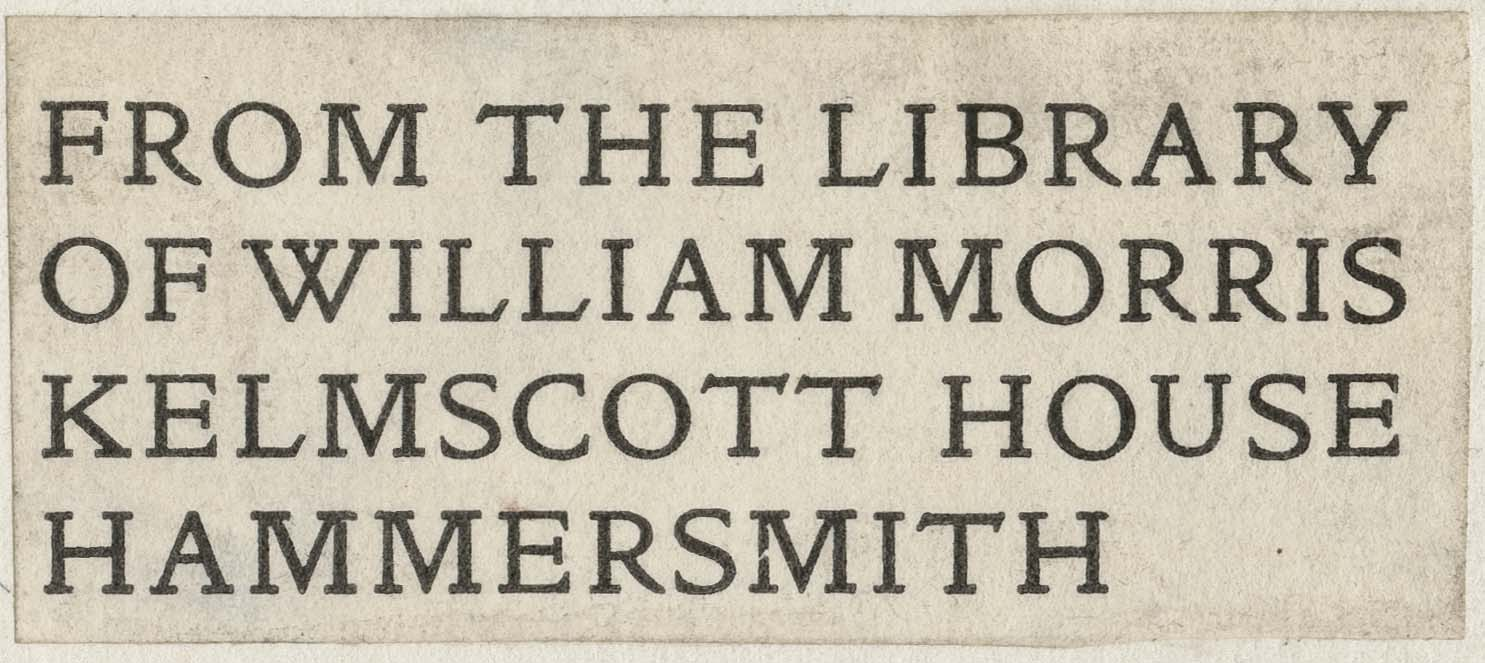 William Morris Bookplate