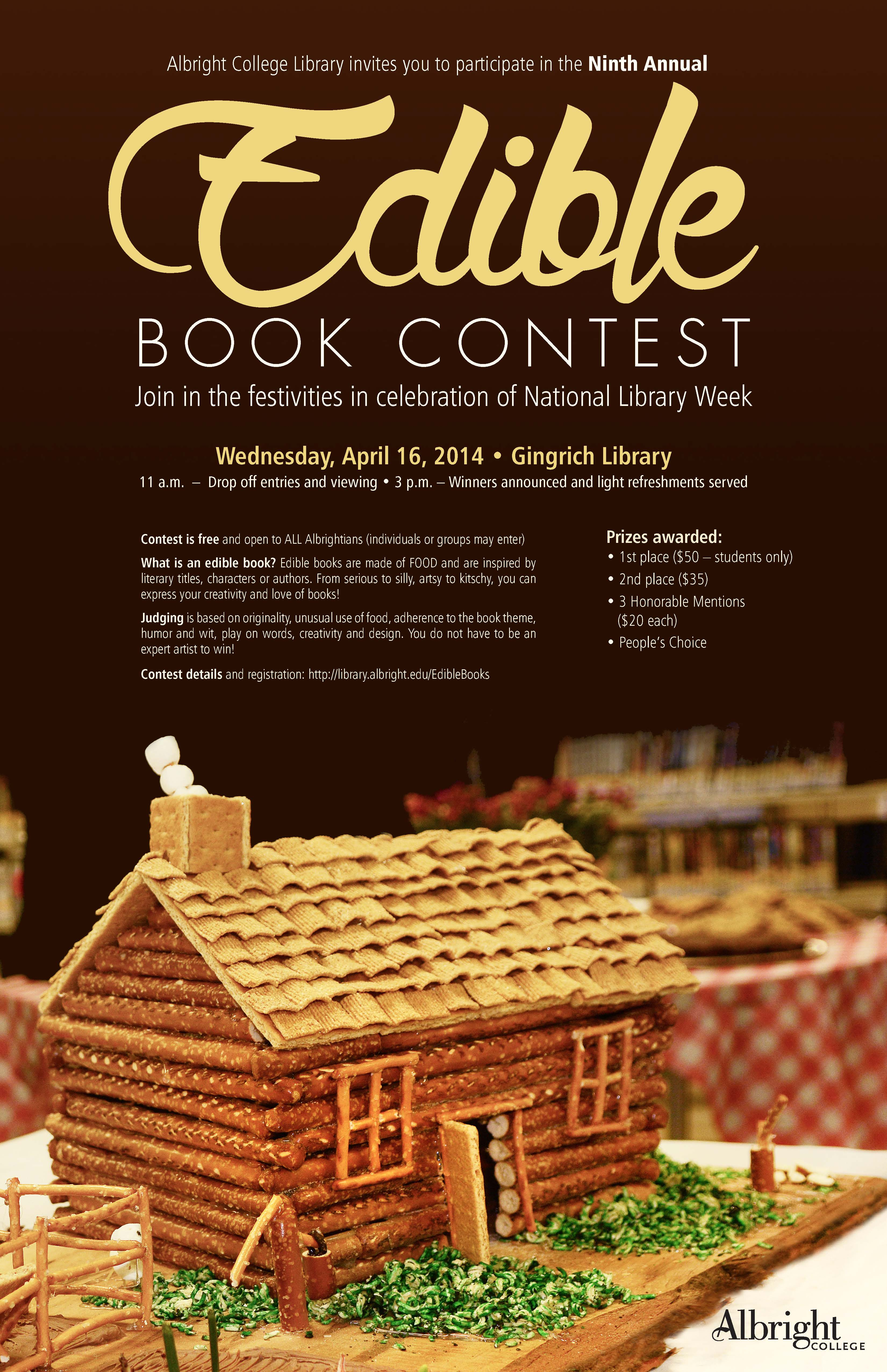 Edible Books Poster 2014