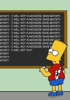 Bart Simpson I will not plagiarize