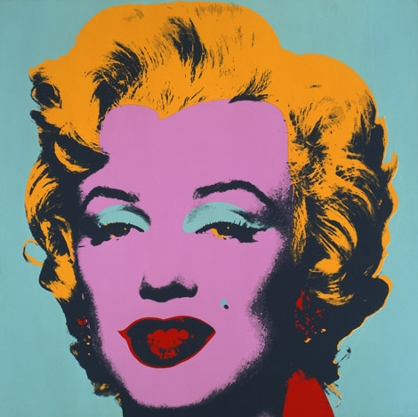 Andy Warhol, Marilyn, 1967 Collection of The Andy Warhol Museum, Pittsburgh © 2012 The Andy Warhol Foundation for the Visual Arts, Inc. Artists Rights Society (ARS), New York  Read more at warhol.org: http://www.warhol.org/exhibitions/2012/15minuteseternal/#ixzz2ExWnKxE2