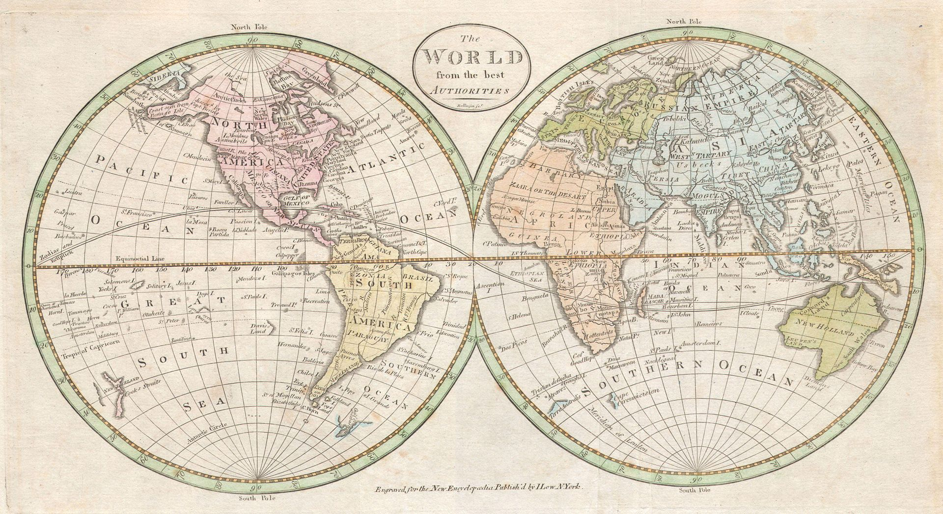 1798 Payne Map of the World
